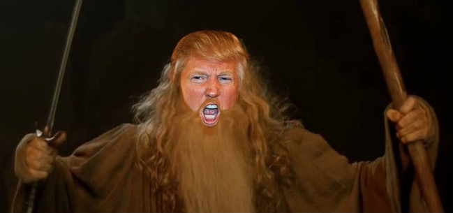 Image result for trump you shall not pass
