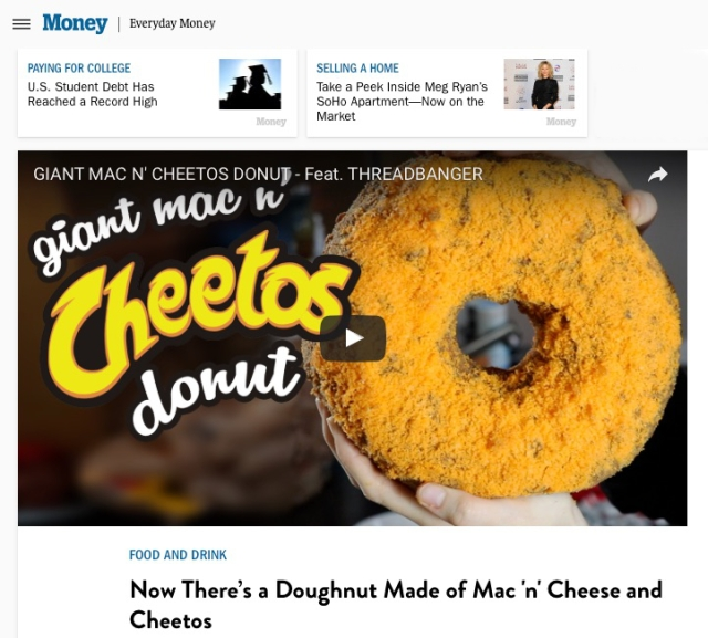 Mac n' Cheese Donut Sprinkled With Cheetos.jpg